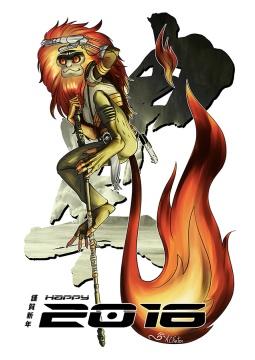 2016: Fire Monkey / Mad Mico (Clip Studio / Photoshop, 2015)
